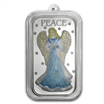 2012 1 oz Peace Angel Enameled Silver Bar (w/Stocking & Cap)